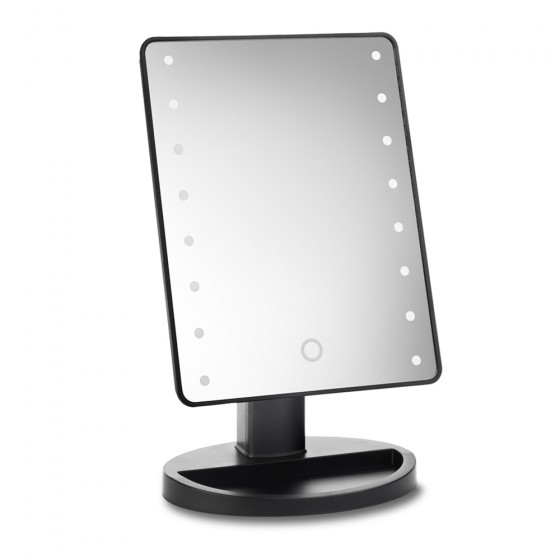 Black 16 Led Dimmable Mirror