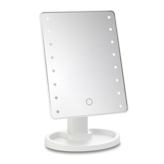 White 16 Led Dimmable Mirror