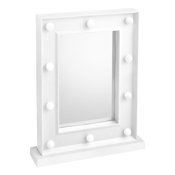 White Led Hollywood Vanity Makeup Mirror