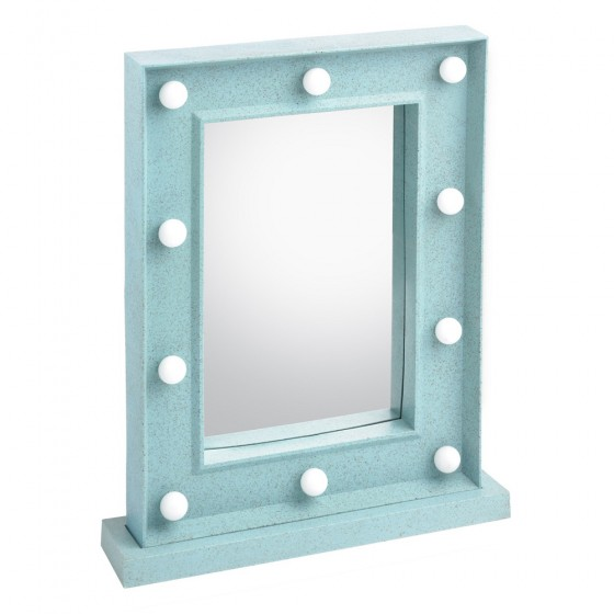 Turquoise Led Hollywood Vanity Makeup Mirror