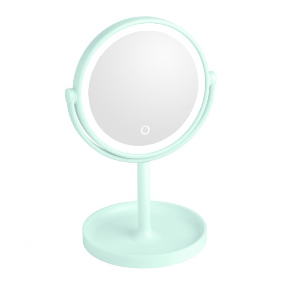 Green Led Surround Light Mirror with Stand