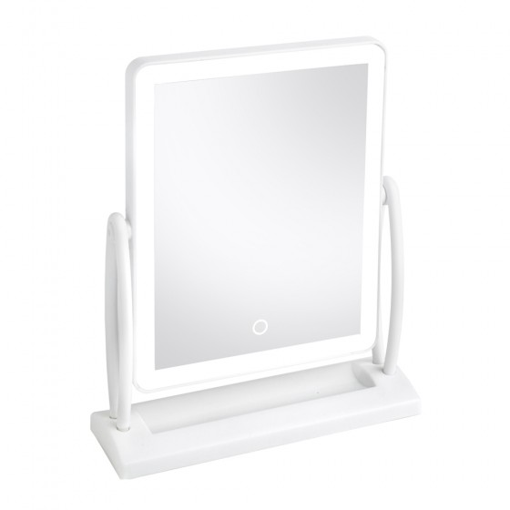 White Led Swivel Vanity Makeup Mirror