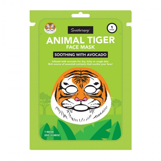 Animal Tiger Soothing Face Mask with Avocado