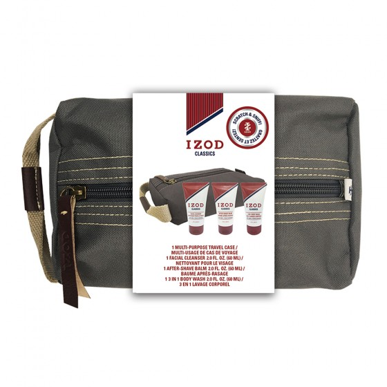 Izod Classics 4-Piece Multi-Purpose Travel Case Set with Belly Band