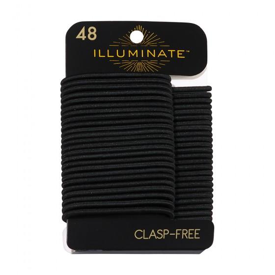 48pc Clasp Free Black Ponyholders