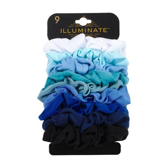 9pc Jersey Fabric Denim Scrunchies