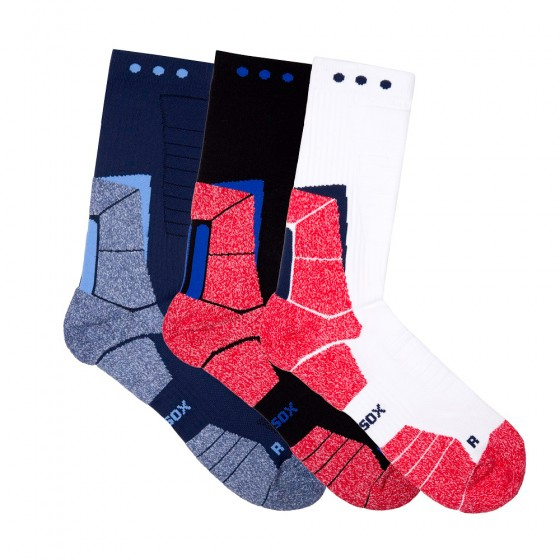 Hi-Performance Pro Sox Mens 3 Pack Crew Athletic Socks; Size 10-13