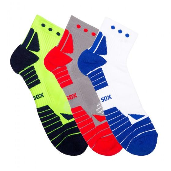 Hi-Performance Pro Sox Mens 3 Pack Quarter Athletic Socks; Size 10-13
