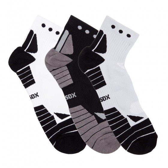 Hi-Performance Pro Sox Mens 3 Pack Quarter Athletic Socks; Size 10-13
