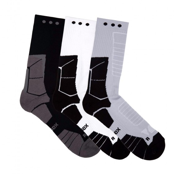 Hi-Performance Pro Sox Ladies 3 Pack Crew Athletic Socks; Size 9-11