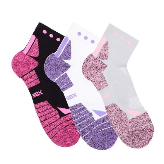 Hi-Performance Pro Sox Ladies 3 Pack Quarter Athletic Socks; Size 9-11
