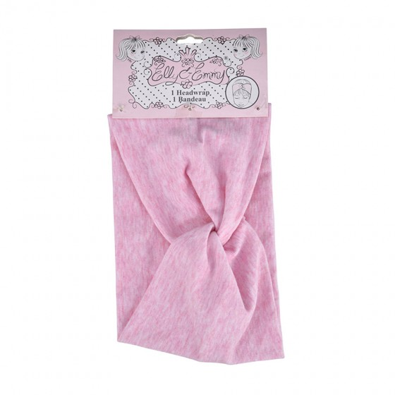 Elly & Emmy Infant Girls' Heather Pink Fabric Head Wrap