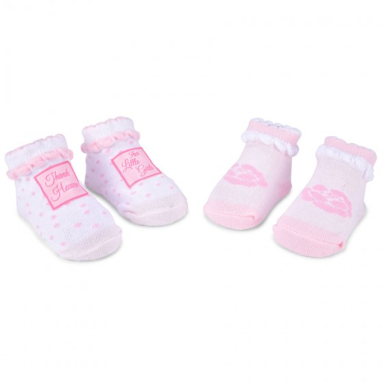 Little Me Infant Girls' 2pc Bootie Set; 6-12 Months