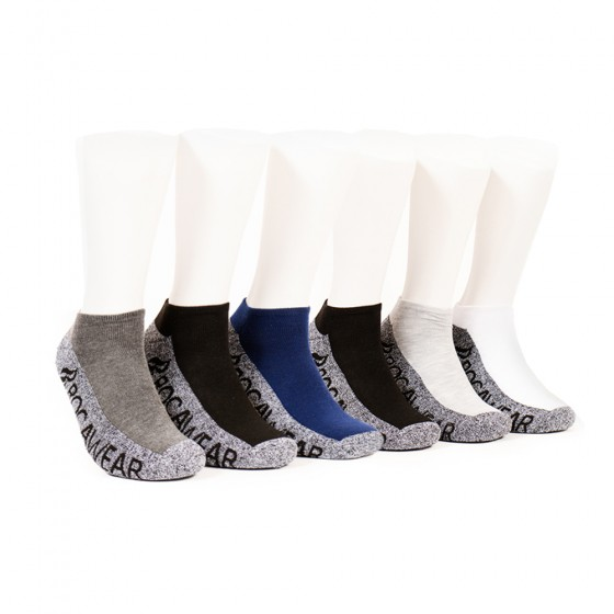 Rocawear Mens 6pk Basic Marled No Show Socks; Size 10-13