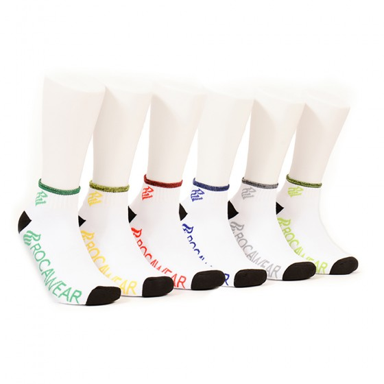 Rocawear Mens 6pk White Colored Marled Quarter Socks; Size 10-13