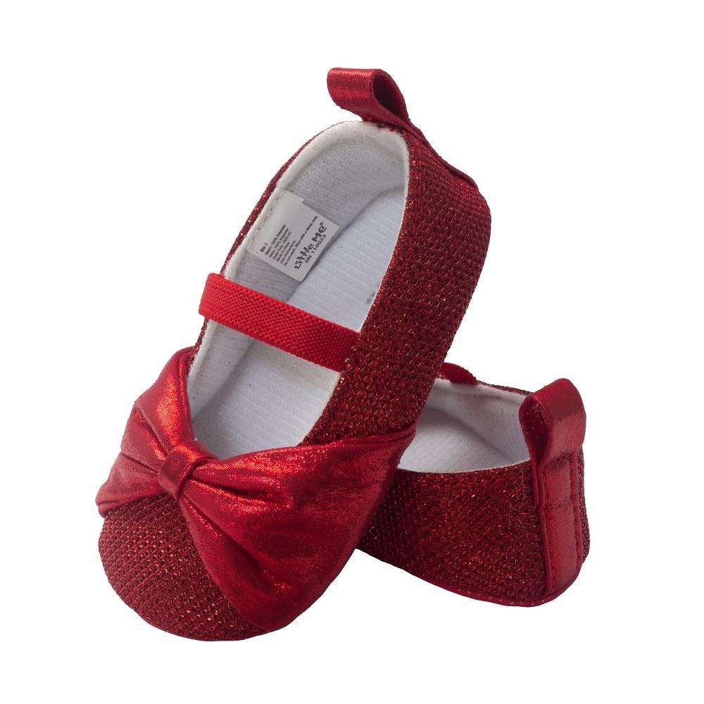 Little Me Red Sparkle Glitter Ballet