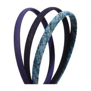 3pc Thin Headband; 1 Heather/ 2 Solid