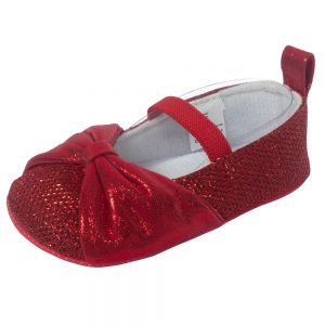 Little Me Red Sparkle Glitter Ballet Baby Girl Shoe; Assorted Sizes, 0-6, 6-9 & 9-12 Months