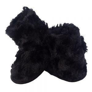 Little Me Black Faux Curly Fur Baby Girl Boot; Assorted Sizes, 0-6, 6-9 & 9-12 Months