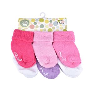 Little Me Infant Girls' 6pc Multi Color Sock Set; 12-18 Months