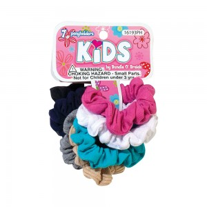7pcs Assorted Fabric Pony Holders