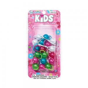 10pc Pearlized Twin Bead Ponyholders