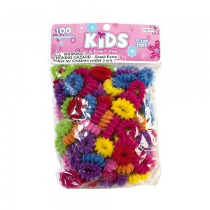 100pc Small Ribbed Terry Ponyholders