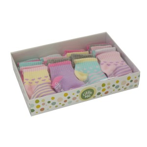 Little Me Baby Girls' 20 Pack Sport Socks in Boxed Set, Assorted; 0-12 Months/ 12-24 Months