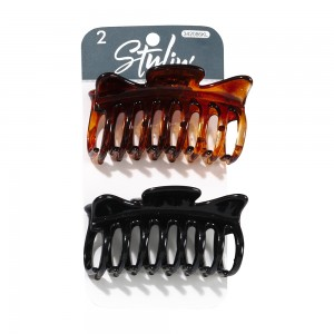 2pc Claw Clips; 1 Tort/ 1 Black