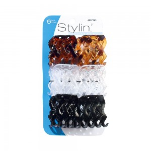 4pc Large Basket Weave Clips