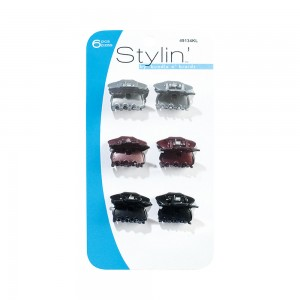 6pc Mini Glossy Finish Clips