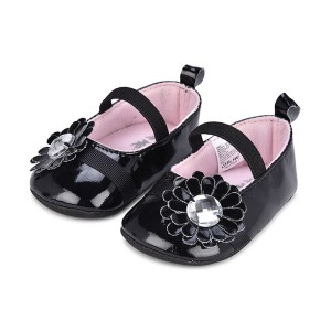 Little Me Infant Girls' Black Mary Jane Shoes: 0-6 Months