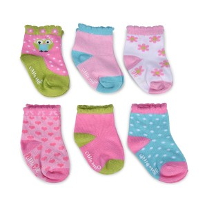 Little Me Infant Girls' 6pc Happy Owl Multi Color Sock Set; 12-18 Months