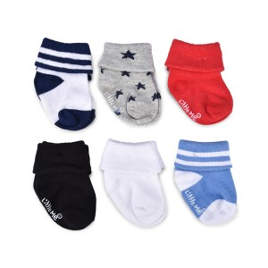 Little Me Infant Boys' 6pc Multi Color Socks; 6-12 Months